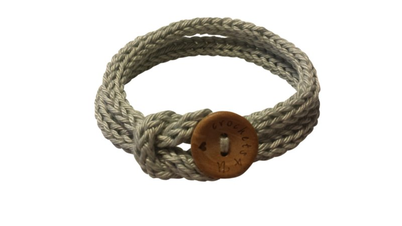 Gratis patroon punnik armband met knoopje