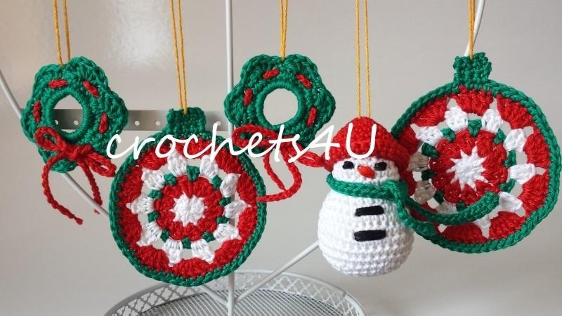 Ongekend haakpatroon kerstversiering 1.1 | Haken voor Kerst | crochets4U ZQ-11