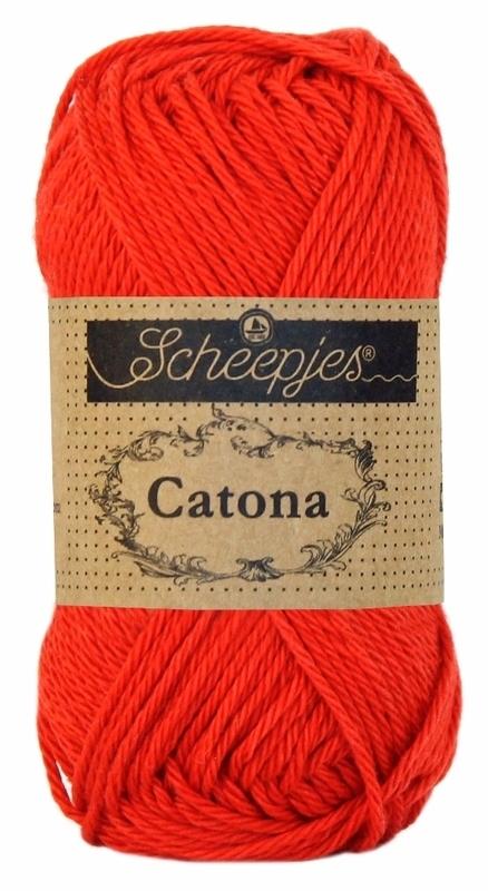 Scheepjes Catona 50 gram - 115 - hot red
