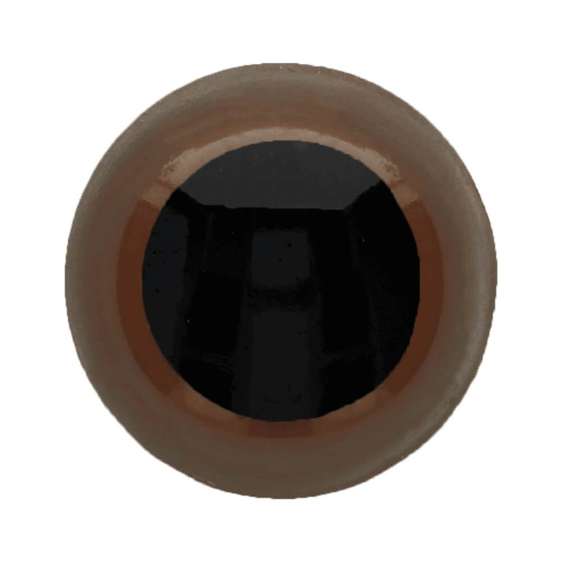 Veiligheidsogen dierenogen - tweekleurig bruin/zwart - 12 mm
