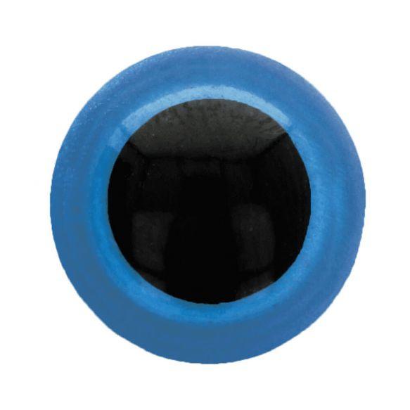 Veiligheidsogen dierenogen - tweekleurig blauw/zwart - 12 mm