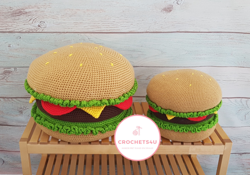 Haakpakket Hamburgerkussen