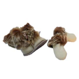 Fellhof baby pantoffel en wantjes Yeti Beige/Bruin