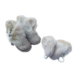 Fellhof baby pantoffel en wantjes Yeti Grijs