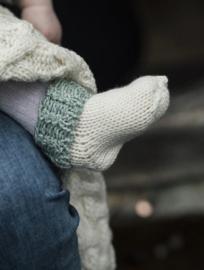Baby sokje Aran Groen
