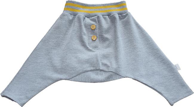Harem spreidbroek Aabo - Grey Melange