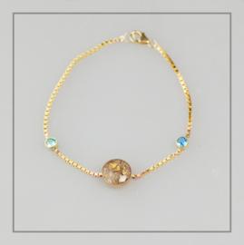 Armband Diem goud met geboortestenen
