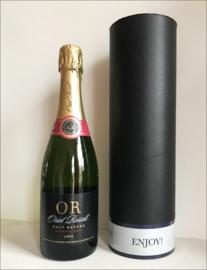 "Zwarte koker ""Enjoy met Champagne, Cava of Prosecco"