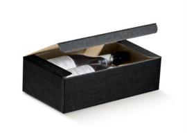 Geschenkdoos zwart - 2flessen Unica Nero
