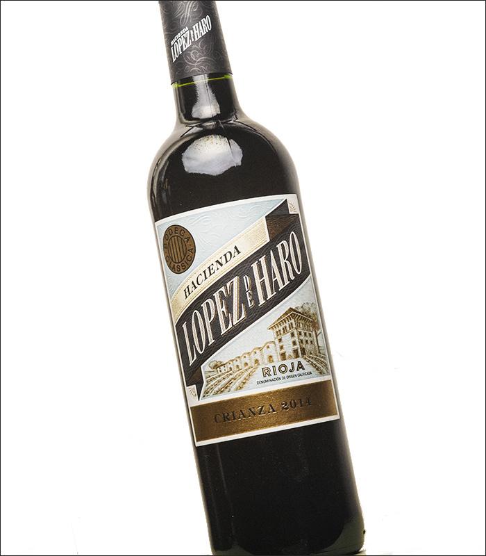 Tempranillo, Garnacha, Graciano  - Rioja Crianza  Lopez de Haro - 18 Meses - Bodega Classica