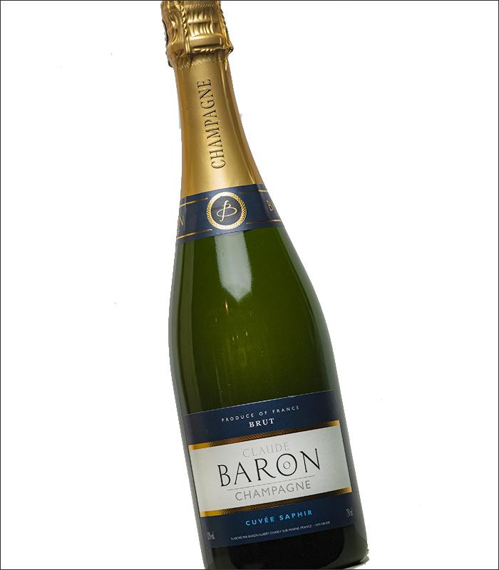 Pinot Meunier, Chardonnay - Champagne Cuvee Saphir - Claude Baron