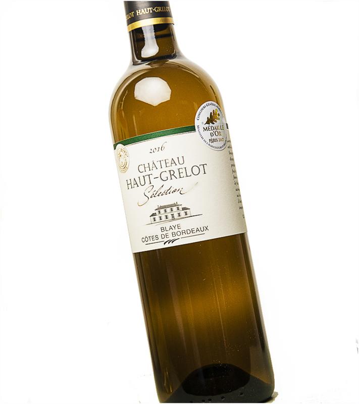 Sauvignon Blanc - Bordeaux  Chateau Haut Grelot - met vatrijping