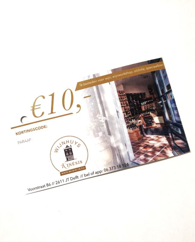 Wijnhuys Kinesis Kadobon 10 euro