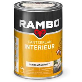 Rambo pantserlak interieur transparant mat White wash - 1,25 Liter -