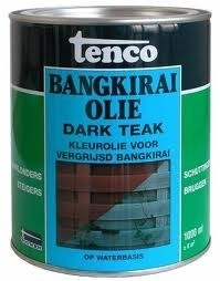 Tenco Bangkirai Olie - Dark Teak - 1 L
