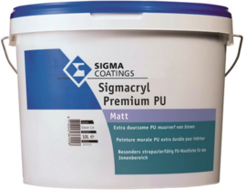 SIGMA Sigmacryl premium PU Matt wit - 10 liter -