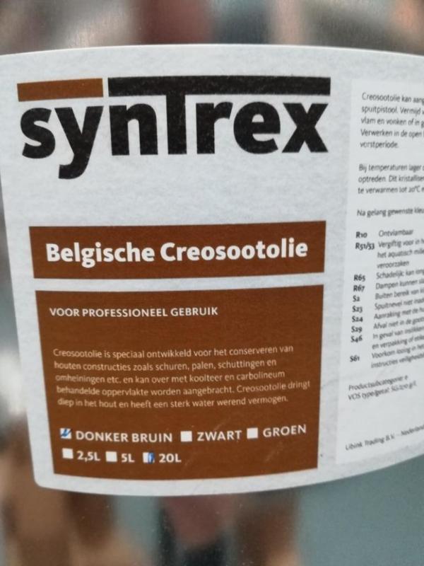 Belgische Creosoot olie | 5 Liter - Donkerbruin