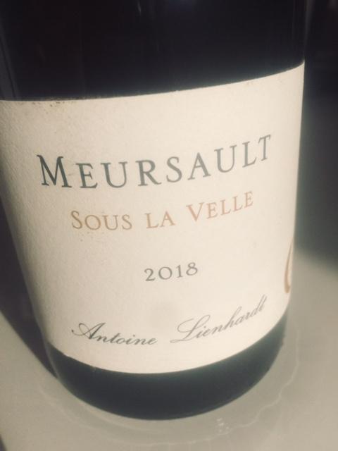 """Meursault """"Sous la Velle"""" 2018"""
