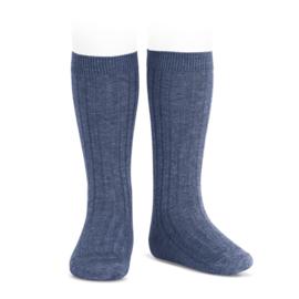 Condor kniekousje kabel - jeans blue