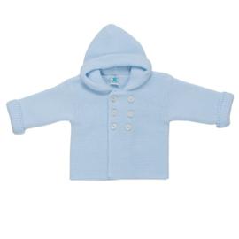 Pangasa gebreid jasje lichtblauw