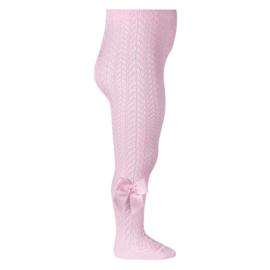 Condor maillot opengewerkt  met strik - roze