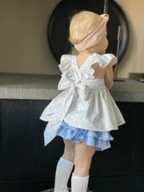Puro Mino blouse - blue/pink