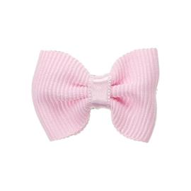 Haarclip baby met strik - rosa pastel