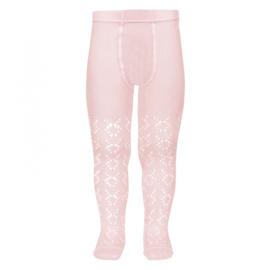 Condor maillot opengewerkt  - roze