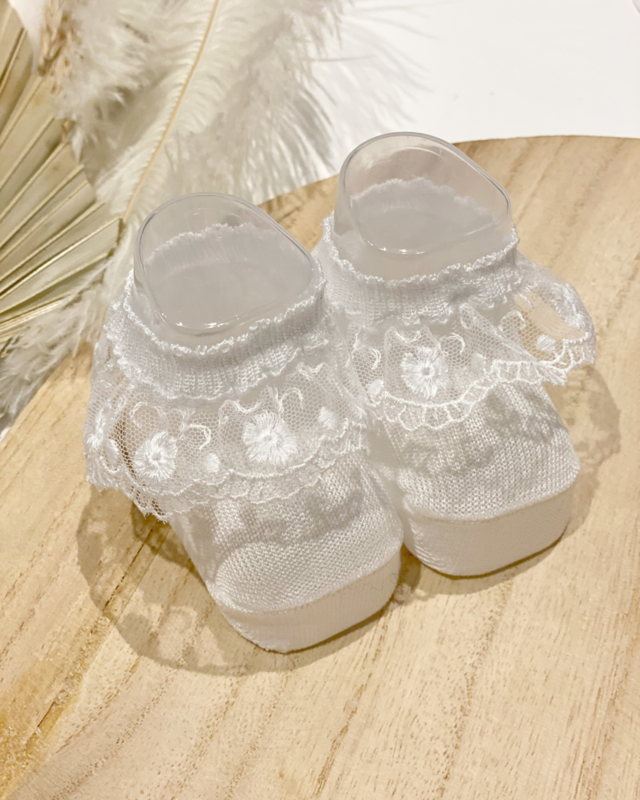 Coccoli babyslofjes - blanco