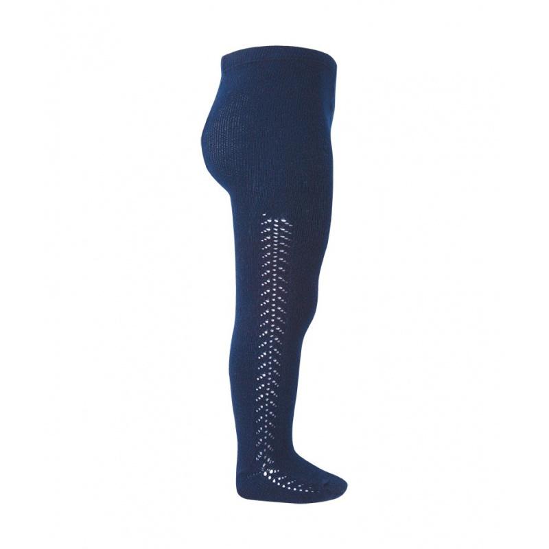 Condor maillot opengewerkt  - marine blauw