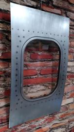 Boeing 737 window - deco item - bare aluminium