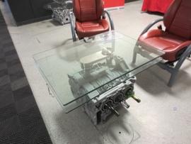 Porsche Flat Six with rotating glass top