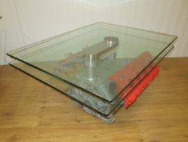Ferrari V8  Design Tisch mit Drehbare Glas Platte