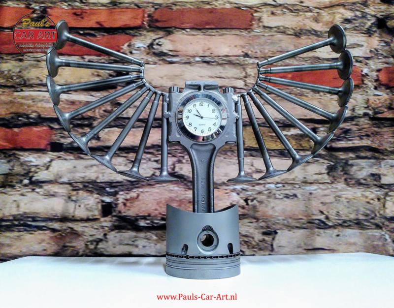 Time Flies Piston clock