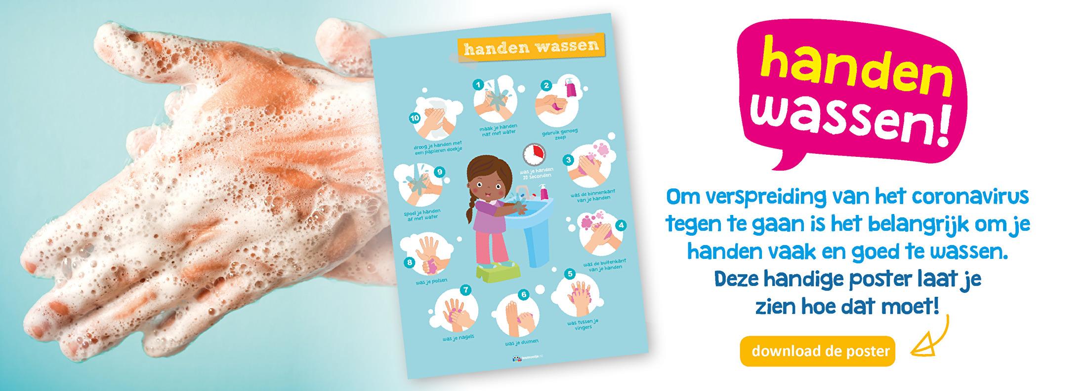 handen wassen poster