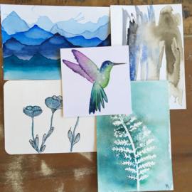 Aquarel-kaarten set 7