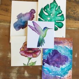 Aquarel-kaarten set 9
