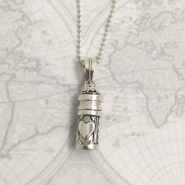 Adoptie-ketting Ketting hart, echt zilver