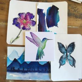 Aquarel-kaarten set 5