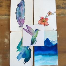 Aquarel-kaarten set 4