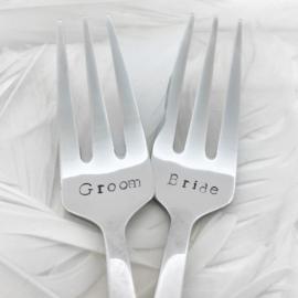 Gebaksvorkjes 'Groom Bride'