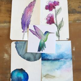 Aquarel-kaarten set 3
