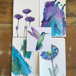 Aquarel-kaarten set 11