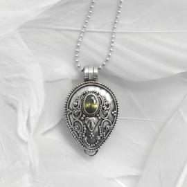 Medaillion Druppel Peridot