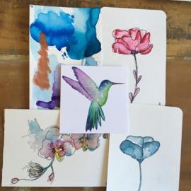 Aquarel-kaarten set 8