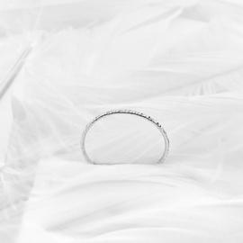 Stapel ring gehamerd