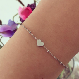 Armband hartje Stainless Steel