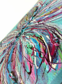 Schilderij Butterfly detail