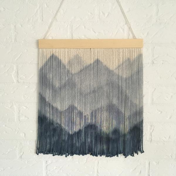 Wandhanger Bergen blauw