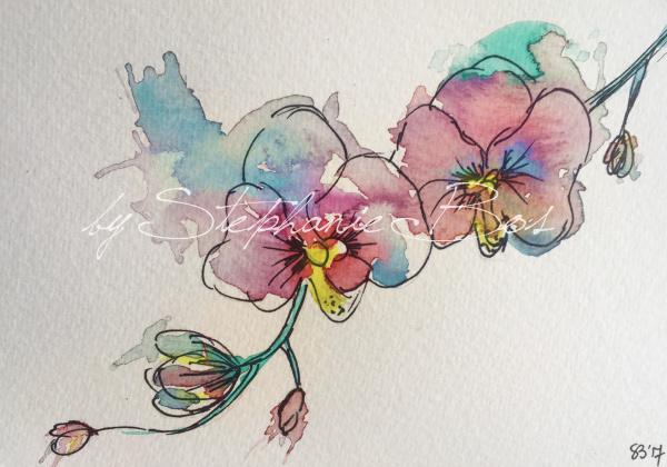 Tattoo ontwerp orchidee